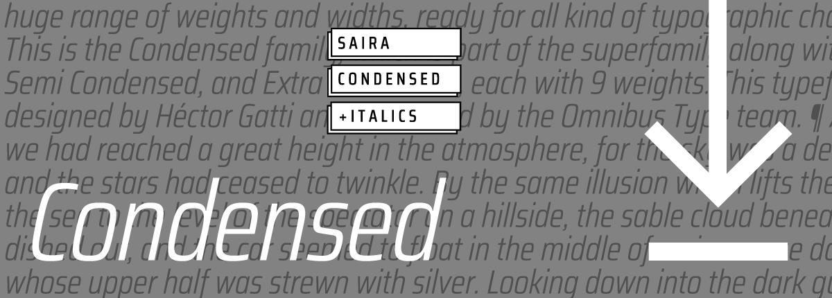 Saira Condensed - Slider 3