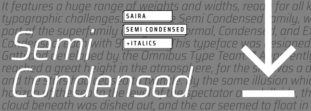 Saira Semi Condensed - Slider 3