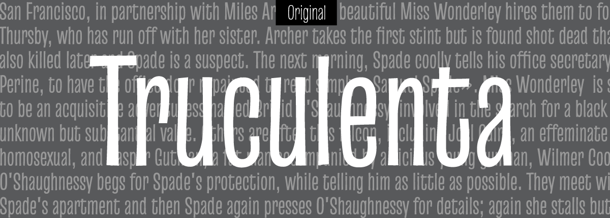 Truculenta Original - Slider 1